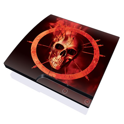 PS3 Slim Skin - Blood Ring