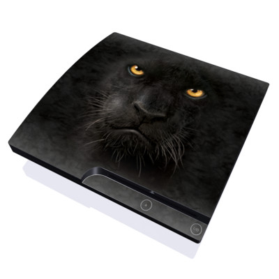PS3 Slim Skin - Black Panther