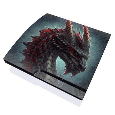 PS3 Slim Skin - Black Dragon