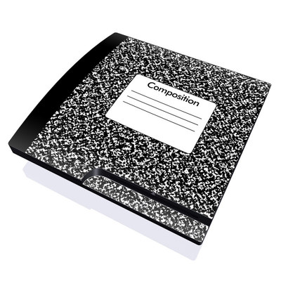 PS3 Slim Skin - Composition Notebook