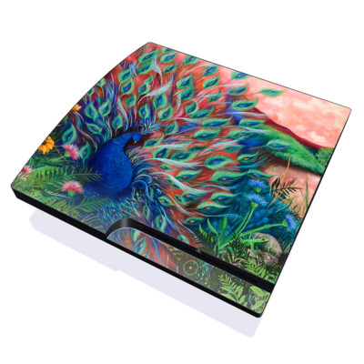 PS3 Slim Skin - Coral Peacock