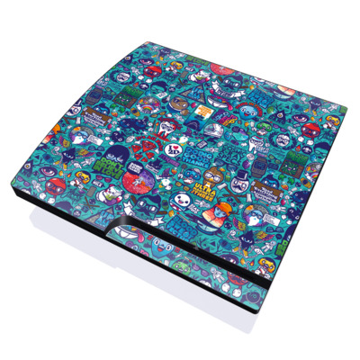 PS3 Slim Skin - Cosmic Ray