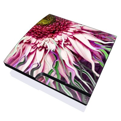 PS3 Slim Skin - Crazy Daisy