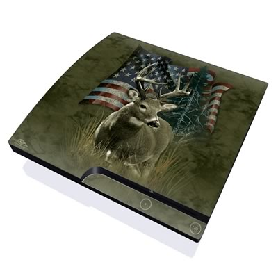 PS3 Slim Skin - Deer Flag