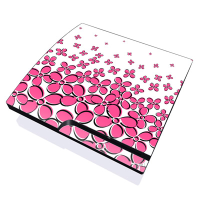 PS3 Slim Skin - Daisy Field - Pink