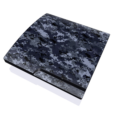 PS3 Slim Skin - Digital Navy Camo