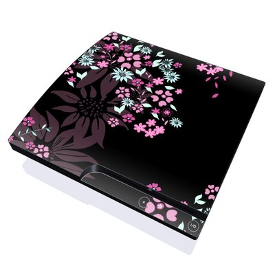 PS3 Slim Skin - Dark Flowers