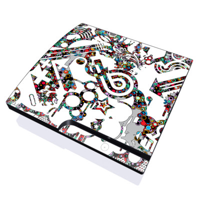 PS3 Slim Skin - Dots