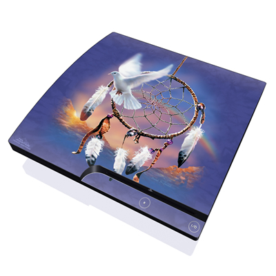 PS3 Slim Skin - Dove Dreamer