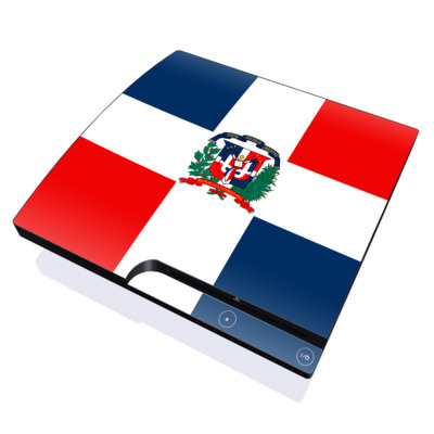 PS3 Slim Skin - Dominican Republic Flag