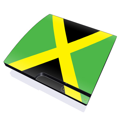 PS3 Slim Skin - Jamaican Flag