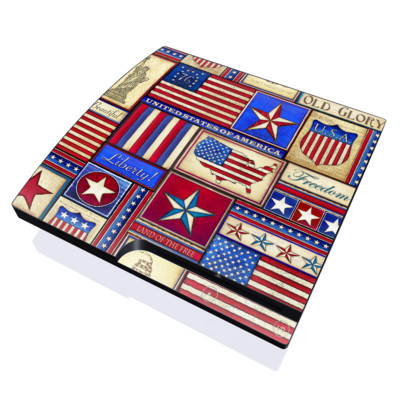 PS3 Slim Skin - Flag Patchwork