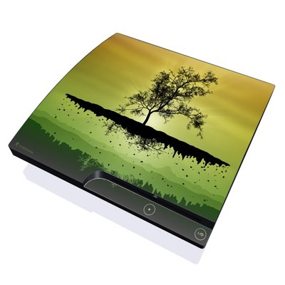 PS3 Slim Skin - Flying Tree Amber
