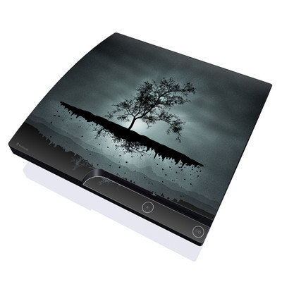PS3 Slim Skin - Flying Tree Black