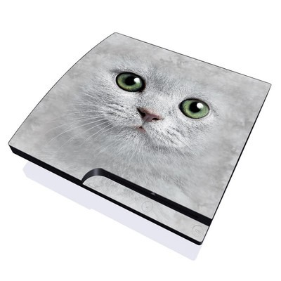 PS3 Slim Skin - Grey Kitty