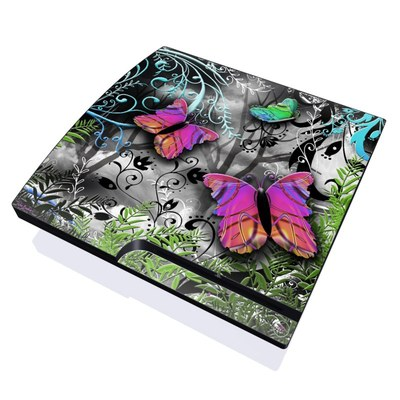PS3 Slim Skin - Goth Forest