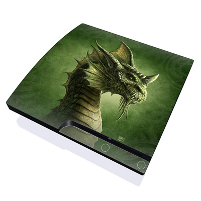 PS3 Slim Skin - Green Dragon