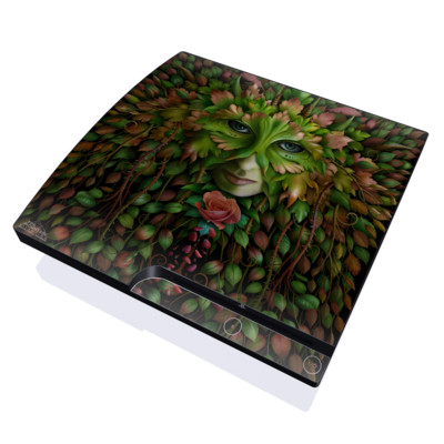 PS3 Slim Skin - Green Woman