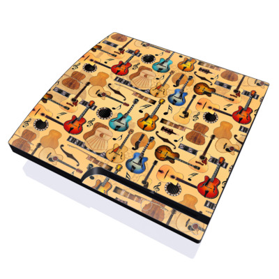 PS3 Slim Skin - Guitar Collage