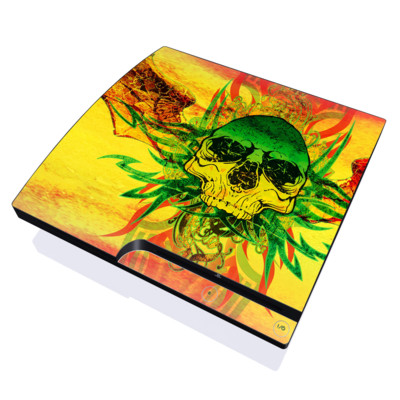PS3 Slim Skin - Hot Tribal Skull