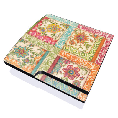 PS3 Slim Skin - Ikat Floral