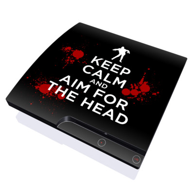 PS3 Slim Skin - Keep Calm - Zombie
