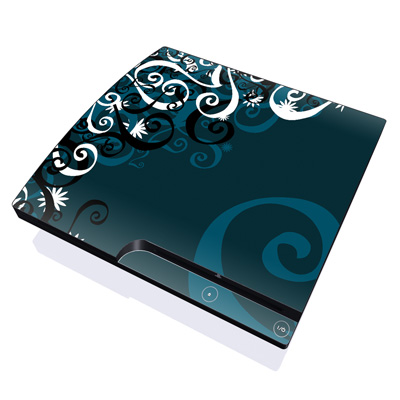 PS3 Slim Skin - Midnight Garden