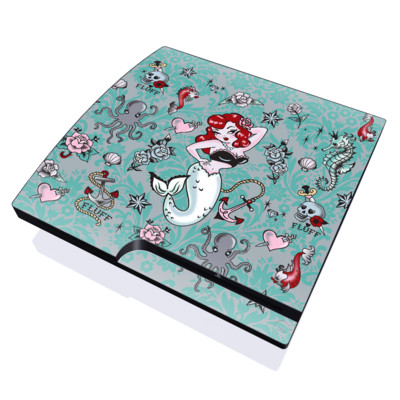 PS3 Slim Skin - Molly Mermaid