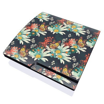PS3 Slim Skin - Monarch Grove