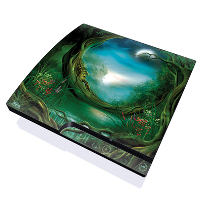 PS3 Slim Skin - Moon Tree