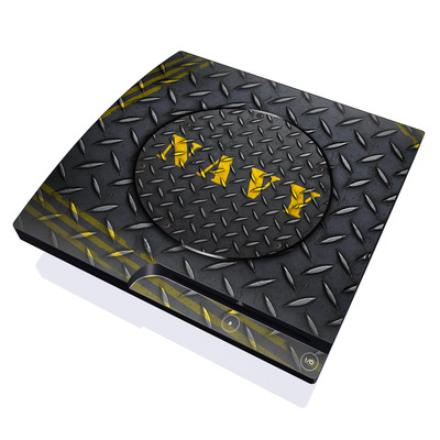 PS3 Slim Skin - Navy Diamond Plate