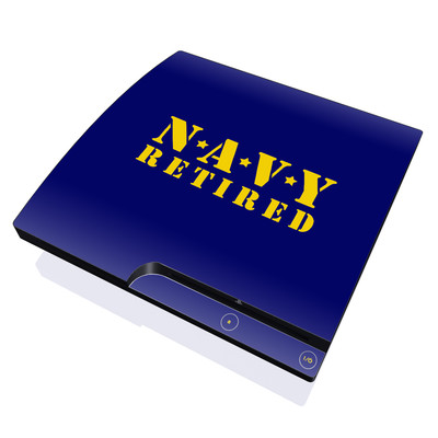 PS3 Slim Skin - Navy Retired
