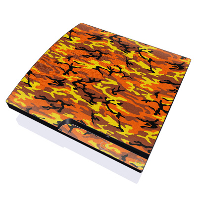 PS3 Slim Skin - Orange Camo
