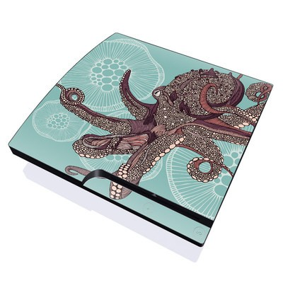PS3 Slim Skin - Octopus Bloom