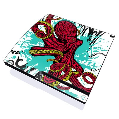 PS3 Slim Skin - Octopus