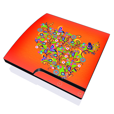 PS3 Slim Skin - Orange Squirt