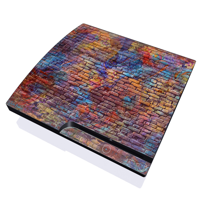 PS3 Slim Skin - Painted Brick