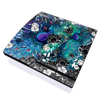 PS3 Slim Skin - Peacock Garden
