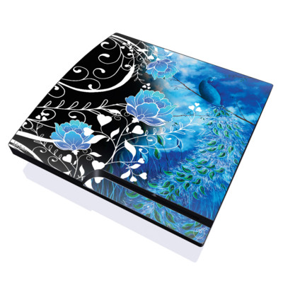 PS3 Slim Skin - Peacock Sky