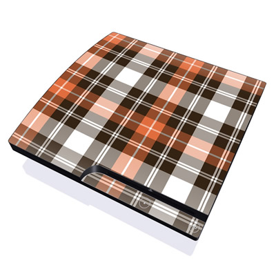 PS3 Slim Skin - Copper Plaid