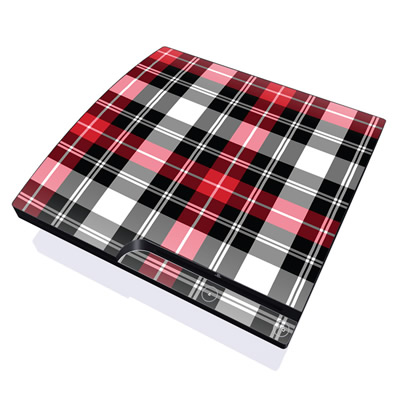 PS3 Slim Skin - Red Plaid