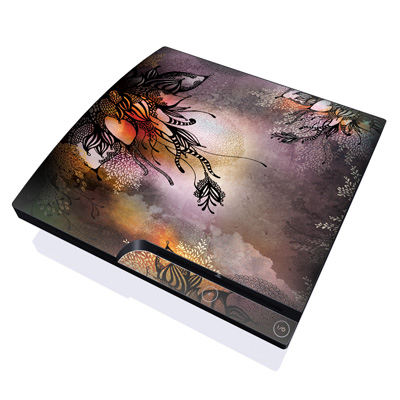 PS3 Slim Skin - Purple Rain
