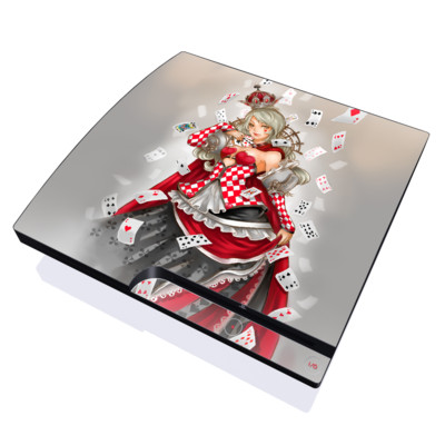 PS3 Slim Skin - Queen Of Cards