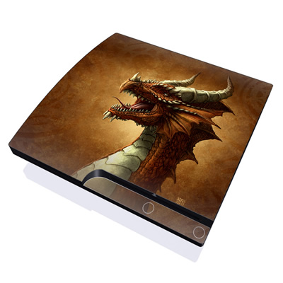 PS3 Slim Skin - Red Dragon