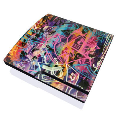 PS3 Slim Skin - Robot Roundup