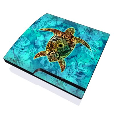 PS3 Slim Skin - Sacred Honu