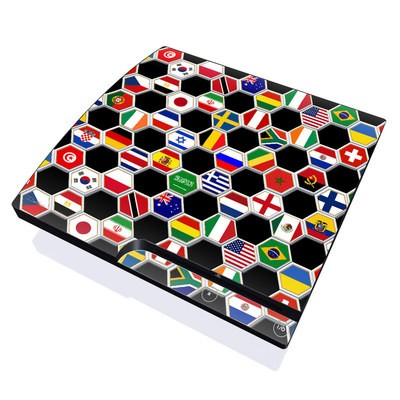 PS3 Slim Skin - Soccer Flags
