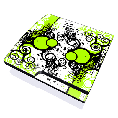 PS3 Slim Skin - Simply Green