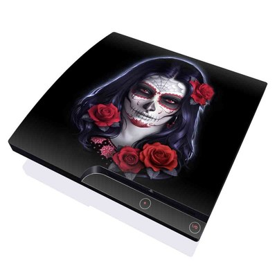 PS3 Slim Skin - Sugar Skull Rose