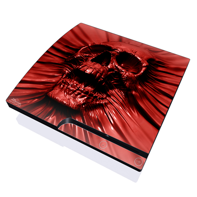PS3 Slim Skin - Skull Blood